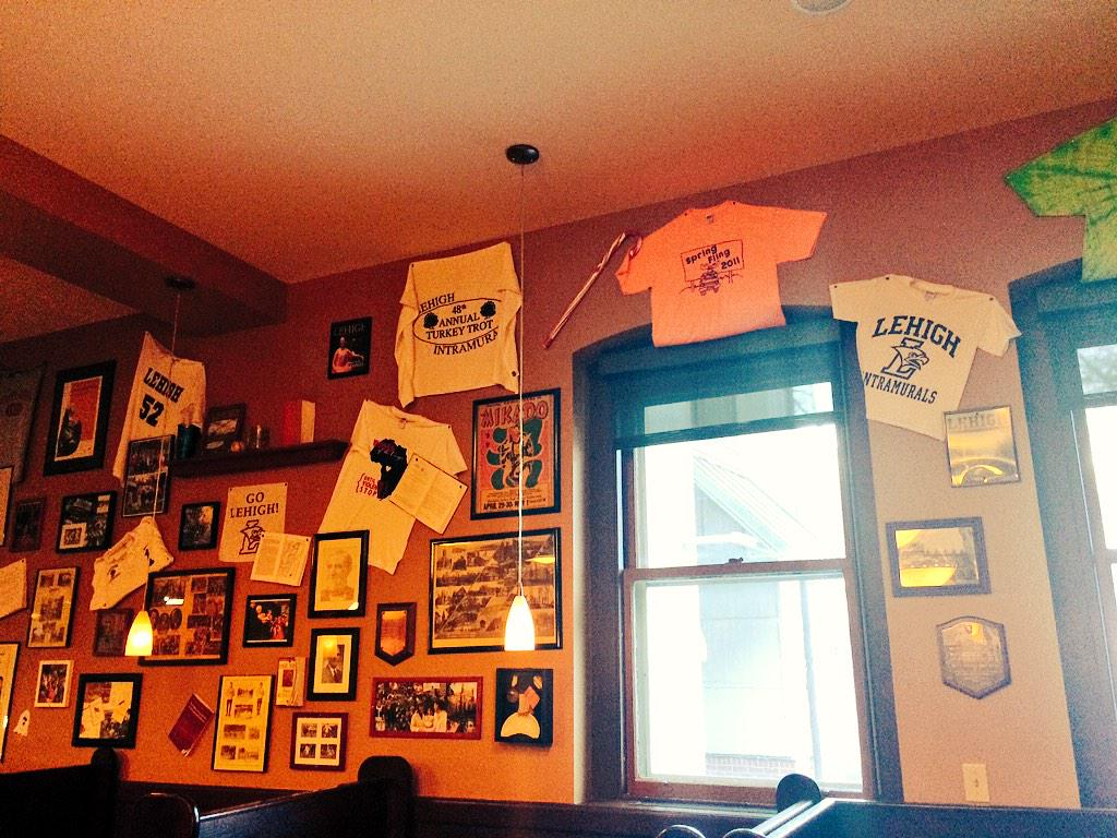 9. The walls of Hawk's Nest boast memorabilia of Lehighs 150+ student run clubs and organizations! #J230 #JRLWeb http://t.co/71VvN6J4ry
