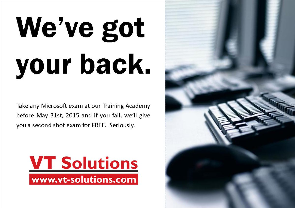 Vt Solutions On Twitter We Are Serious Free 2nd Shot Exam If You