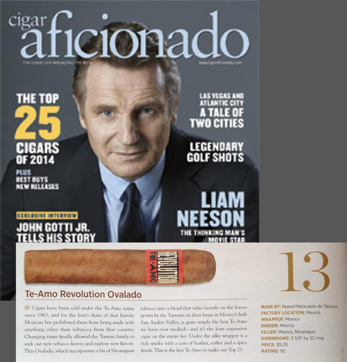 We made it to the CigarAficionado's 25 Top Cigars of 2014 @CigarAficMag #cigars #cigarlife http://t.co/XRFvVSL724