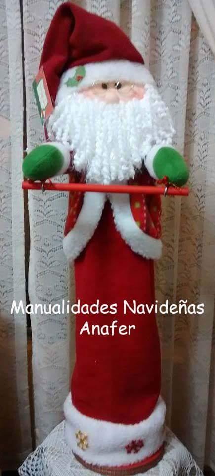 Manualidades anafer on twitter pap noel portarollo - Papa noel manualidades ...