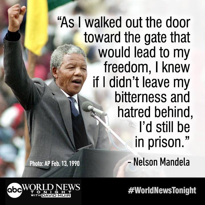 Nelson Mandela Feb 11 1990 Nelson Mandela Was Freed From Prison 25 Years Ago To