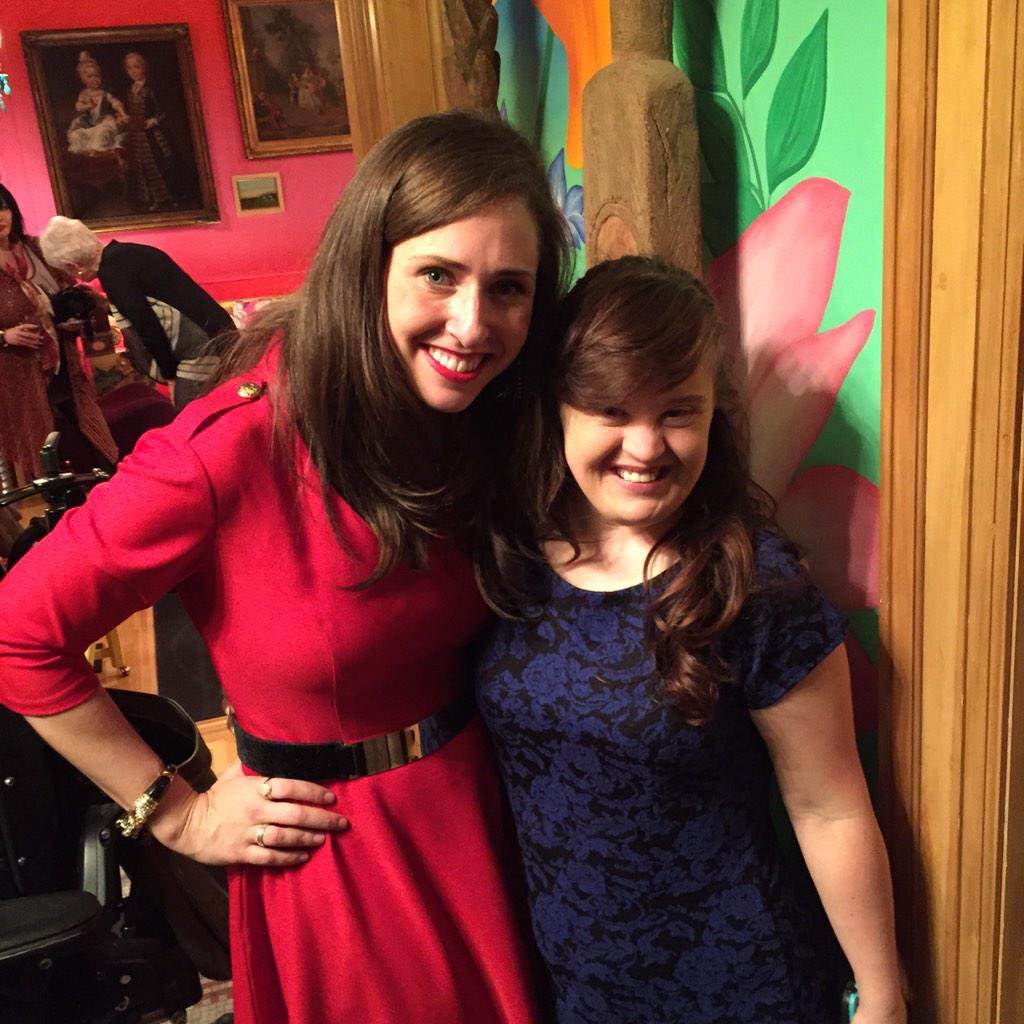 Carrie and the fabulous @MsJamieBrewer! Now off to get some beauty sleep before tomorrow. #RoleModelsNotRunwayModels http://t.co/8ypwiKuopp