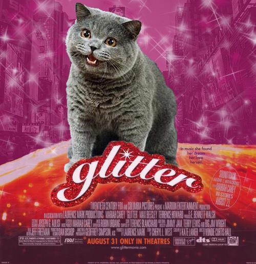 Glitter cat,  theater near you #WeirdEd http://t.co/OmiuP8agzq