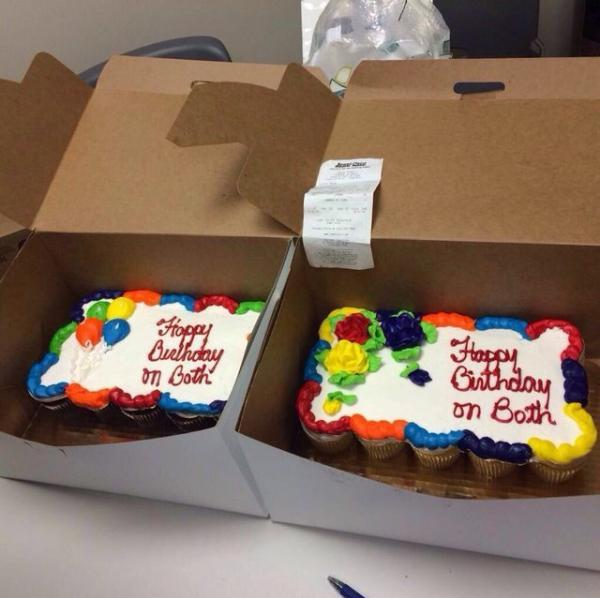 Yes, 2 cakes with 'Happy Birthday' on both please... http://t.co/Avb6oqW0Di