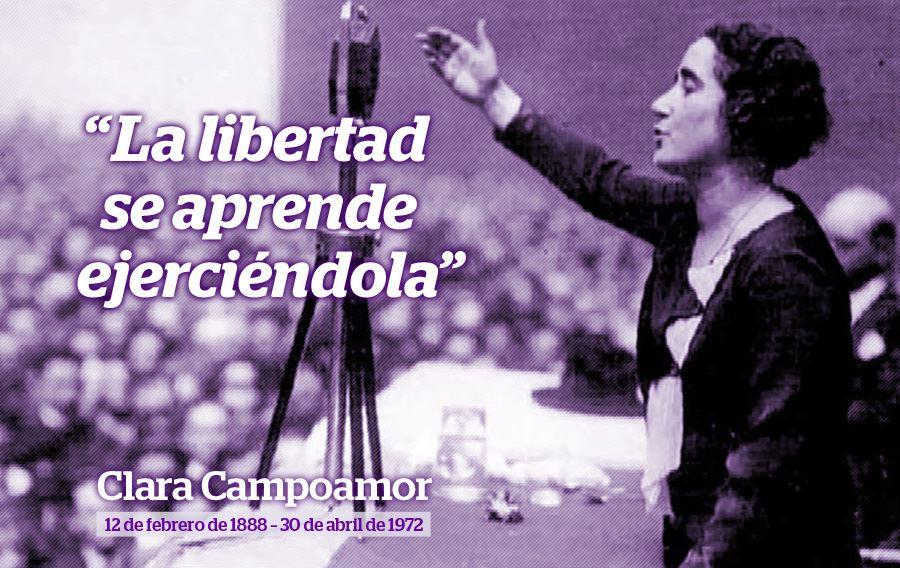 """Tal día como hoy nacía #ClaraCampoamor: """"La libertad se aprende ejerciéndola"""" #mujer #feminismo http://t.co/0L9CYRuRjz"""