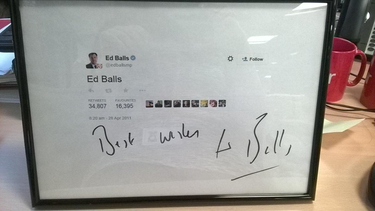 Thanks @edballsmp for a cracking prize at our auction tonight! Tickets still available here: https://t.co/TjcR2qvilQ http://t.co/fQGaTCf6p2