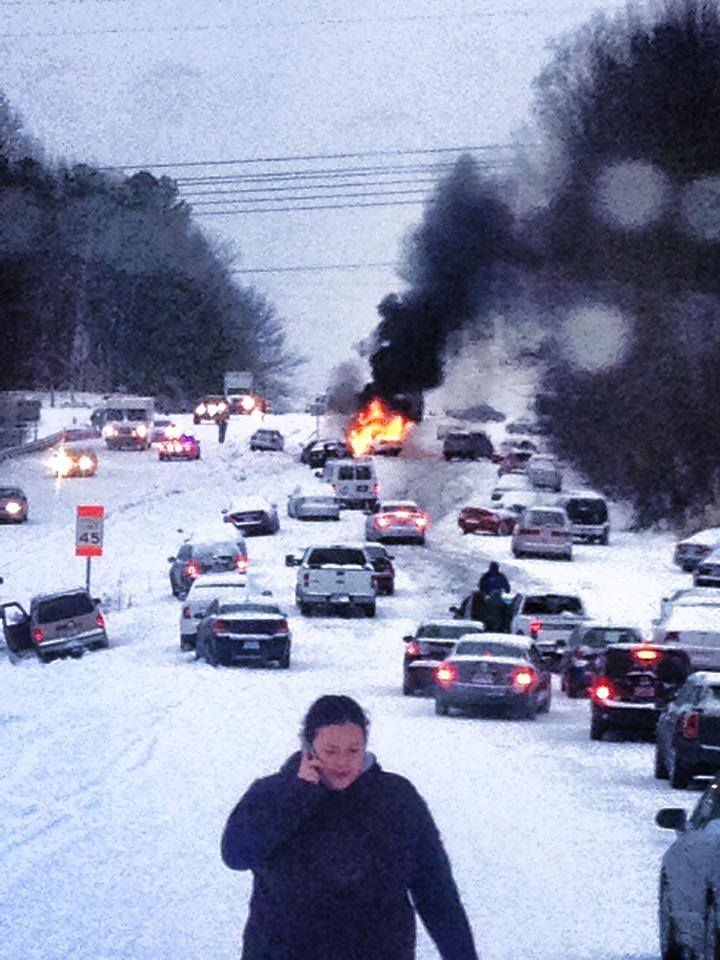 "Today's the 1-yr anniversary of ths viral Raleigh ""snow disaster"" photo taken on Glenwood Ave. http://t.co/GUsqBrSJOh http://t.co/fHrPanwV5S"