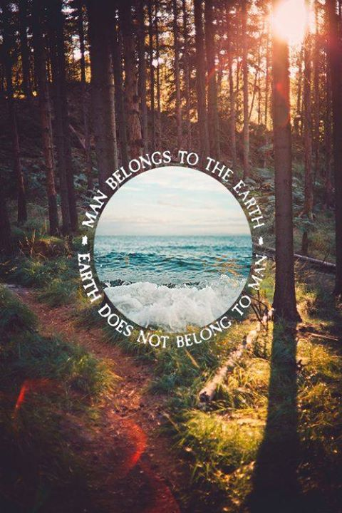La tierra no le pertenece al hombre. http://t.co/SFIgMA8zNa