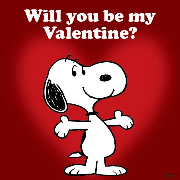 PEANUTS on Twitter Will you be my Valentine tco – Charlie Brown Valentine Cards