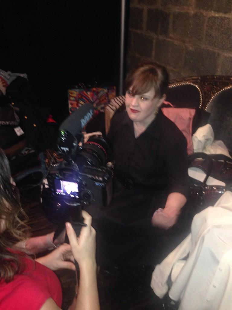 My girl @MsJamieBrewer #interview #media #RoleModelsNotRunwayModels #AHS #AHSFREAKSHOW @carriehammer http://t.co/2iO54g9lBz
