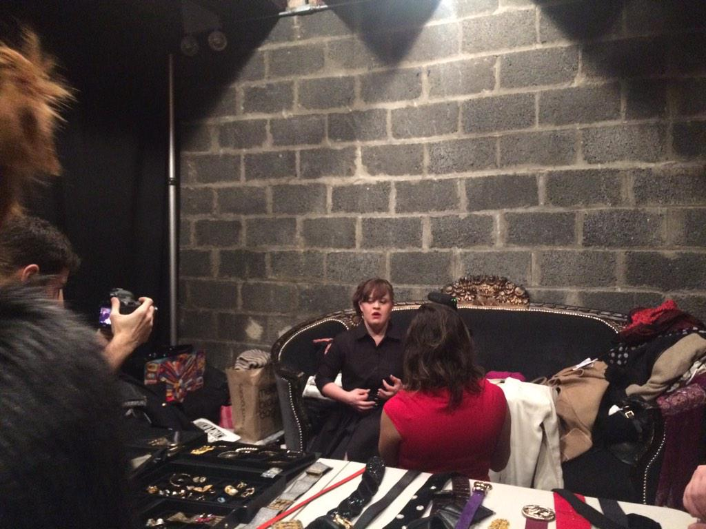 the beautiful @MsJamieBrewer being interviewed before the @carriehammer show! #RoleModelsNotRunwayModels #NYFW http://t.co/sVcU5Wr9RV