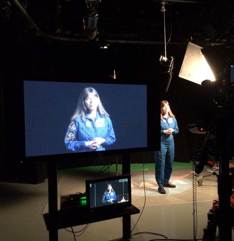 Awesome @Astro_Cady filming @SpaceApps promo video. Mark your calendar: April 10-12. 130 locations in 60 countries. http://t.co/LxvJG0WsHA