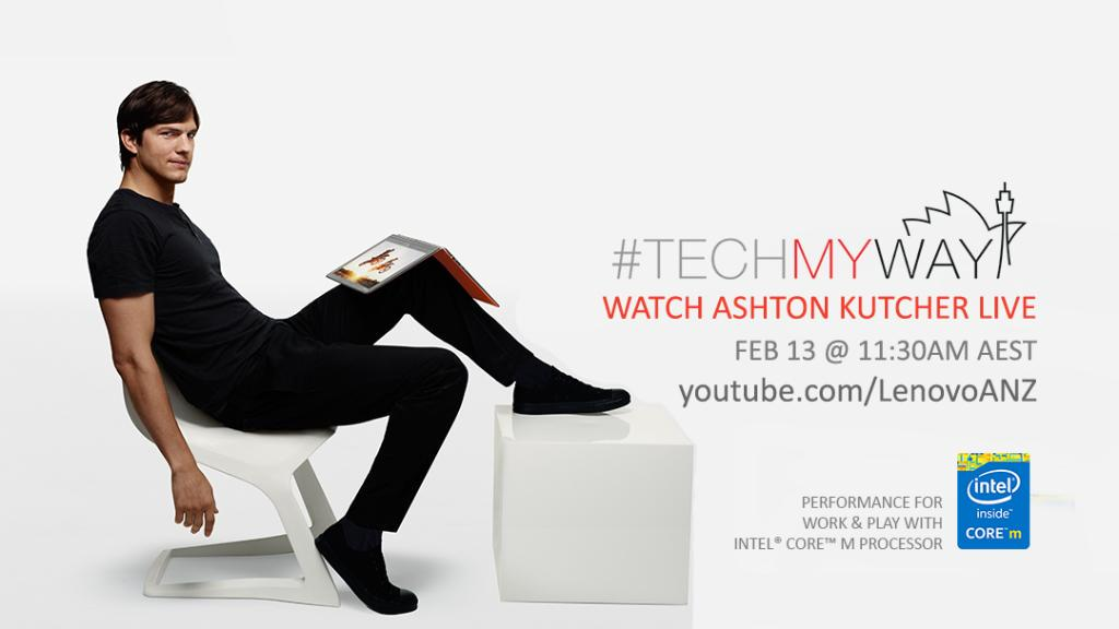 Excited for @Lenovo_ANZ's #TECHmyway with @aplusk today! Come say hi if you see me or @firstnamelee. http://t.co/JniZYSe1ym