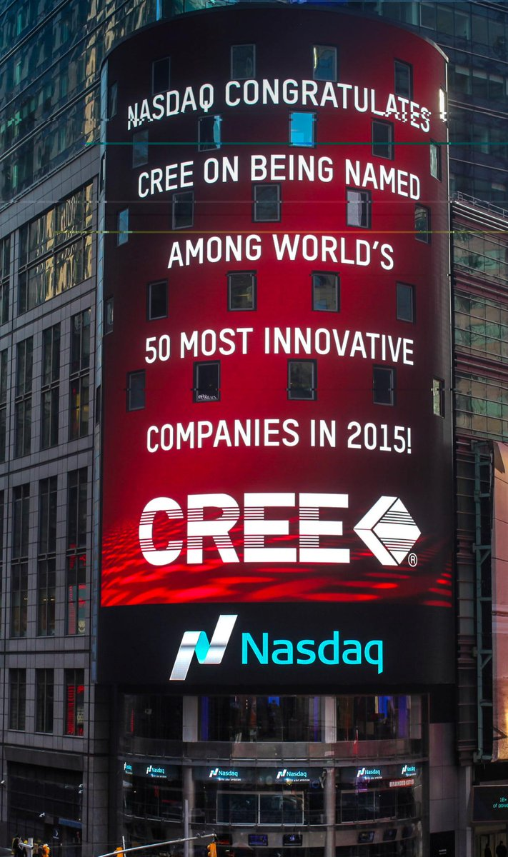 Hello @TimesSquareNYC & Thank You @NASDAQ! Excited to be in the top 50 most innovative companies by @FastCompany http://t.co/6S1MywEG2h