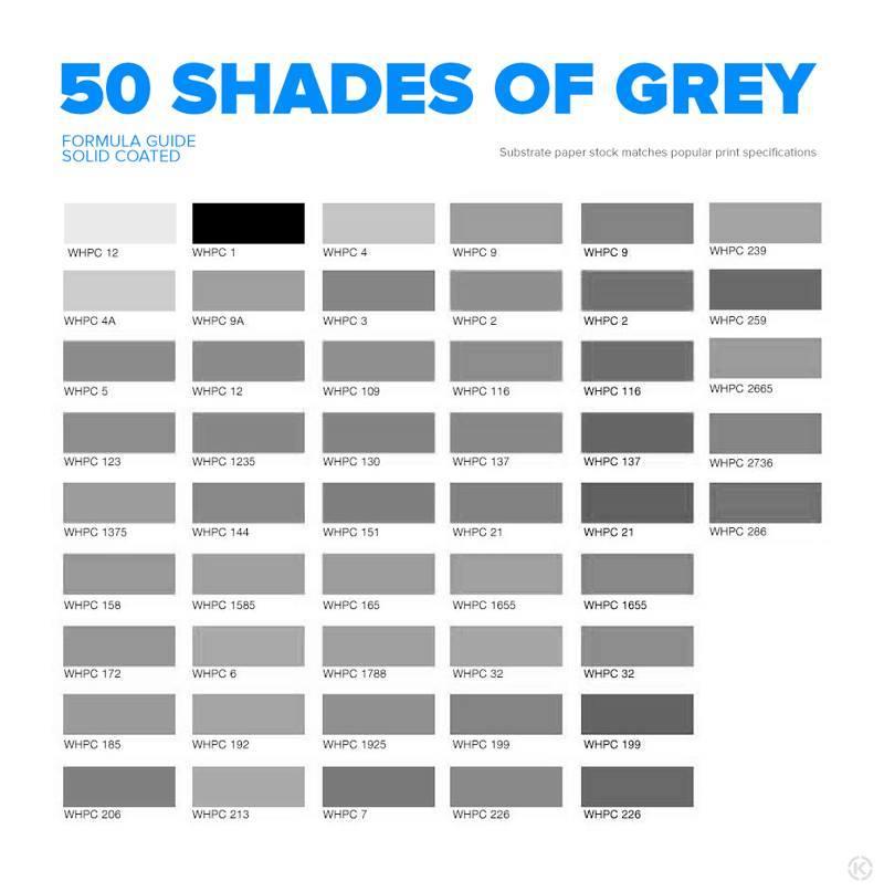 Sviiter on Twitter: 50 shades of gray for designers #
