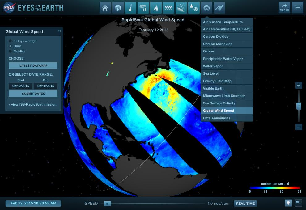 #RapidScat data from @Space_Station now in Eyes on the Earth!  http://t.co/jnQQgNaJaE #EarthRightNow http://t.co/t6TWtLFhoq