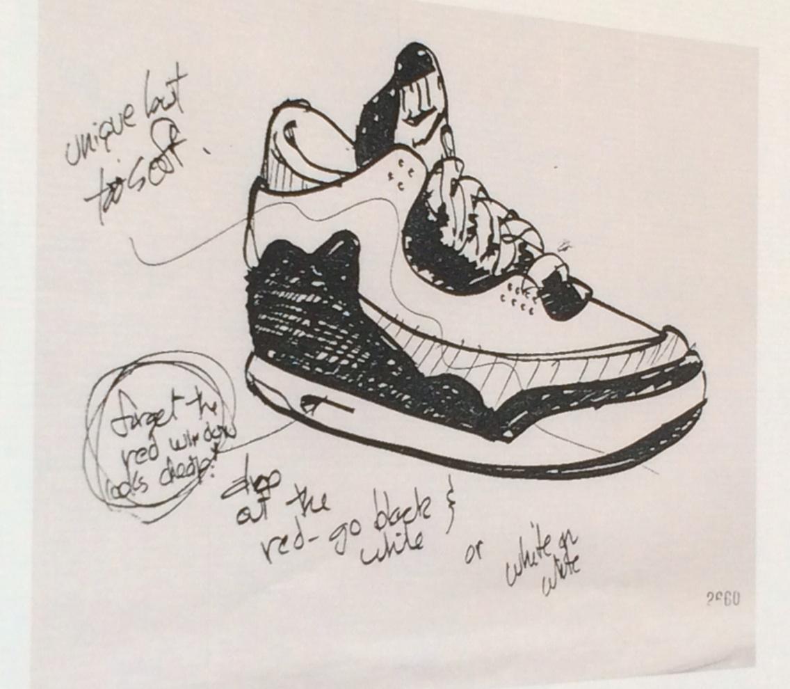 ab40c955309 one of designer tinker hatfield s original sketches of the air jordan iii