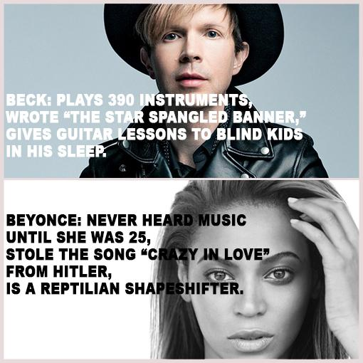 Before you guys go spouting off opinions on this Beck vs. Beyonce thing please do some research and know your facts! http://t.co/RiNhFsTqMp