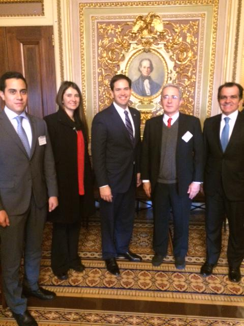 Senator @MarcoRubio met with @AlvaroUribeVel in the U.S. Capitol to discuss U.S.-Colombia relations. http://t.co/nAmp96XAS8