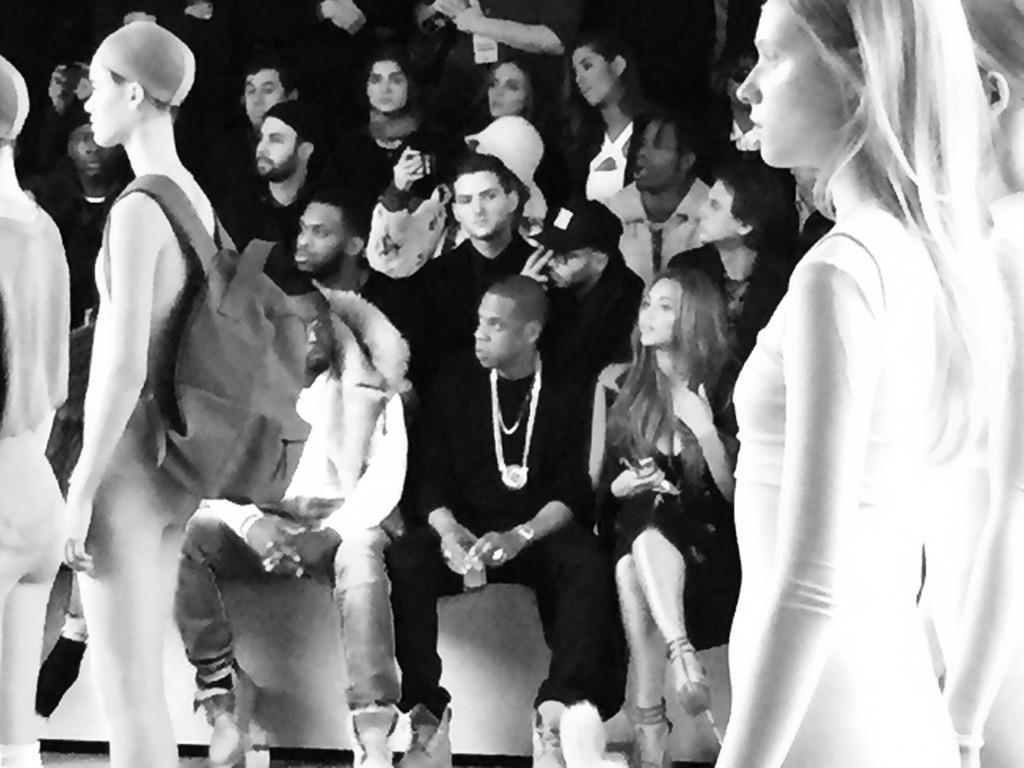 Front row vibes at Yeezy x @adidasUS http://t.co/mXCPr0kvlU