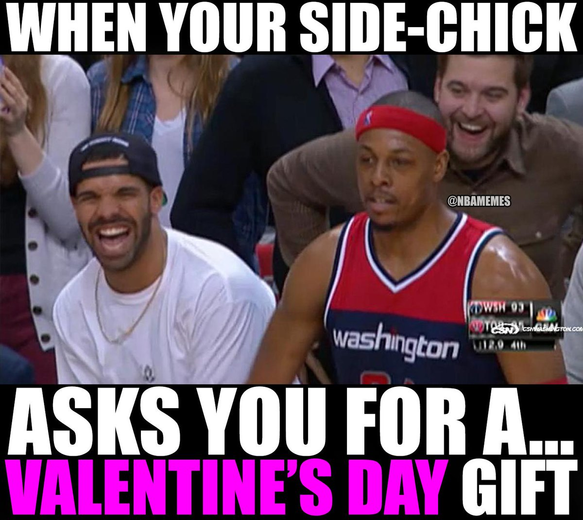 Nba Memes On Twitter Paul Pierce Pushing Drake Away On Valentine S Day Wizards Http T Co Qpqzdsrrr2