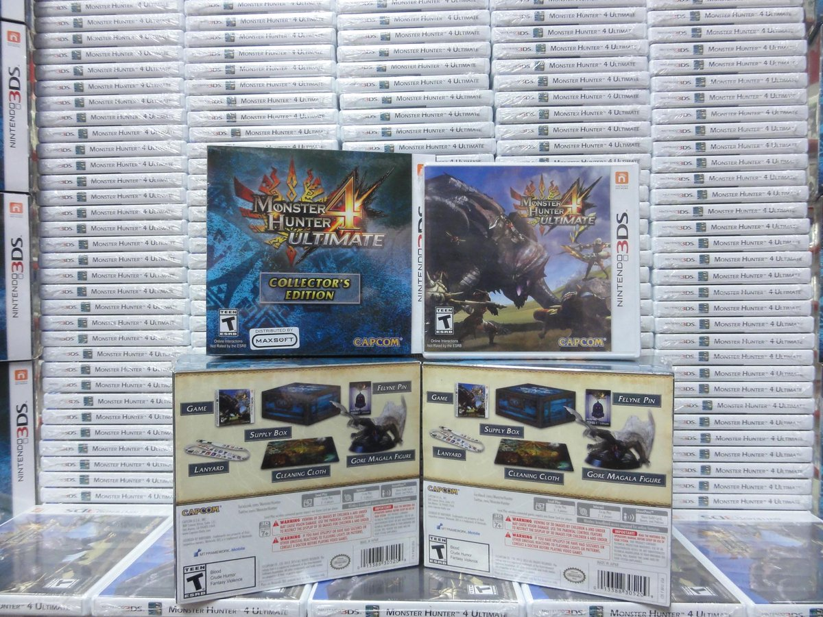 Holy smokes, you guys. Monster hunter madness has officially hit our store!! #monhun #mh4u #3ds #qisahn http://t.co/PlvZdIaG7u