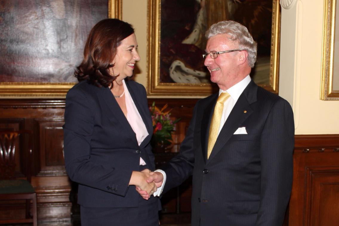 Annastacia and Governor de Jersey
