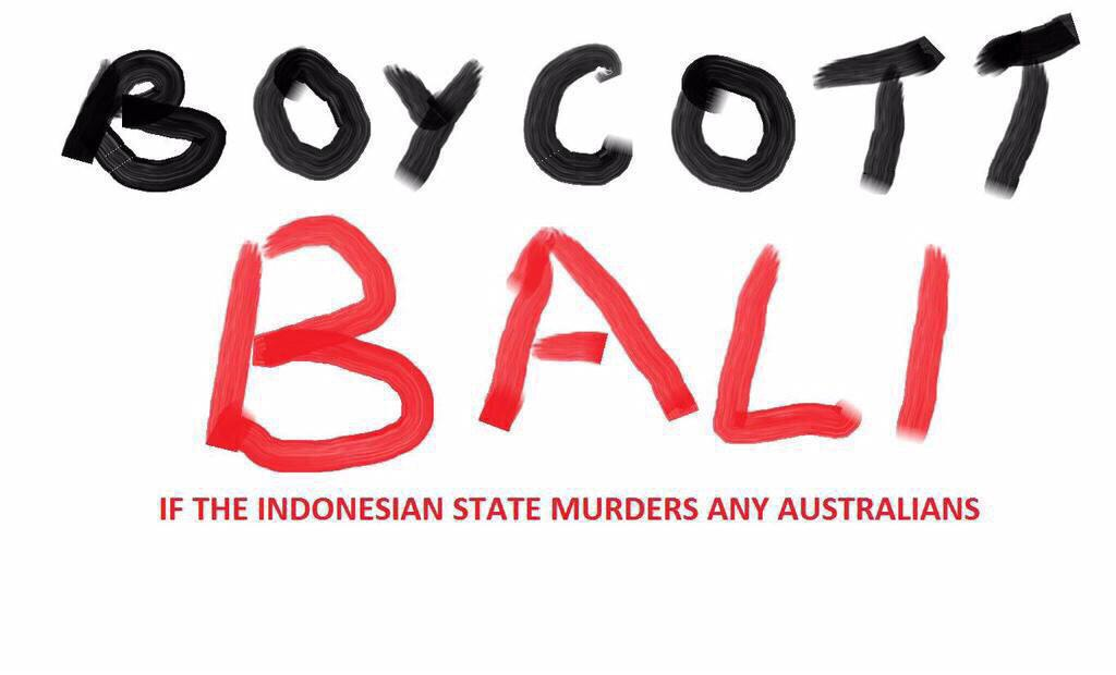 I'll say it again #boycottBali.It's the corrupt Indonesian gov punishing locals-not us http://t.co/00OEid6yAU