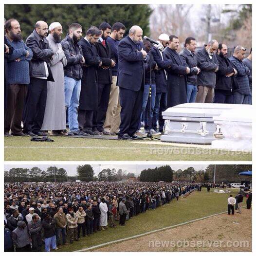 كم سفير ومسؤول عربي شاركوا في جنازة ضياء ورزان ويسر في أمريكا؟  #تشابل_هيل #ChapelHillShooting http://t.co/jpdy5qj6qb