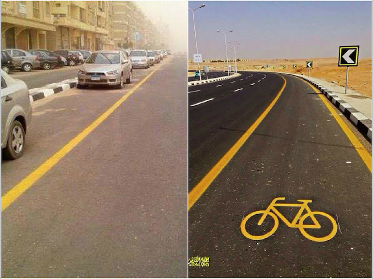 Egypt Introduced Bike Lanes…So People Used Them As Parking Spots  http://t.co/XA5QiVJMjE http://t.co/kcBQL8g5rC