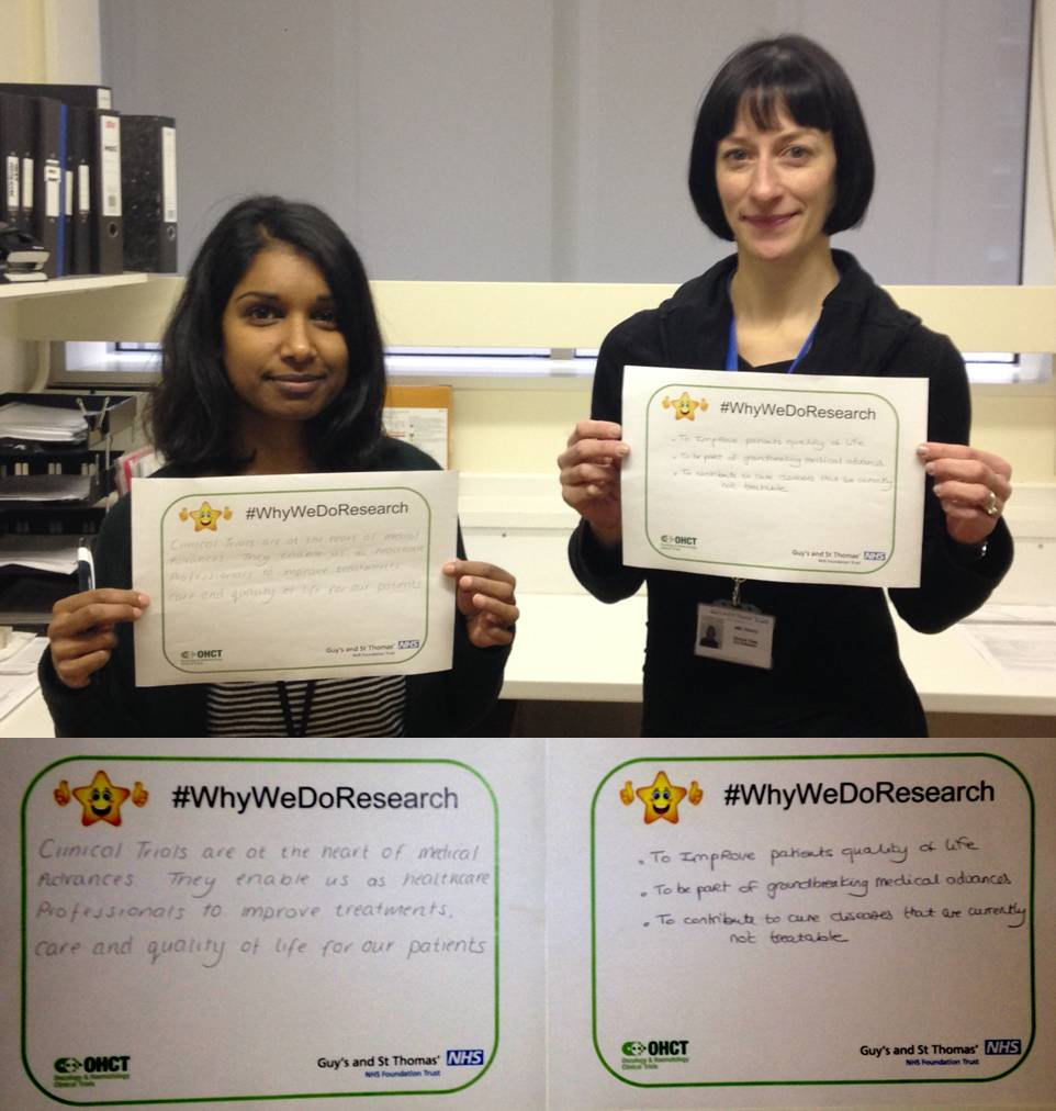 Our haematology clinical trials team on #WhyWeDoResearch at @GSTTnhs http://t.co/DlphMXL1xa