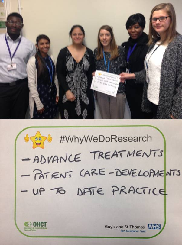 Our Early Phase and Lung clinical trials teams on #WhyWeDoResearch at @GSTTnhs http://t.co/wEH3NDGDcE