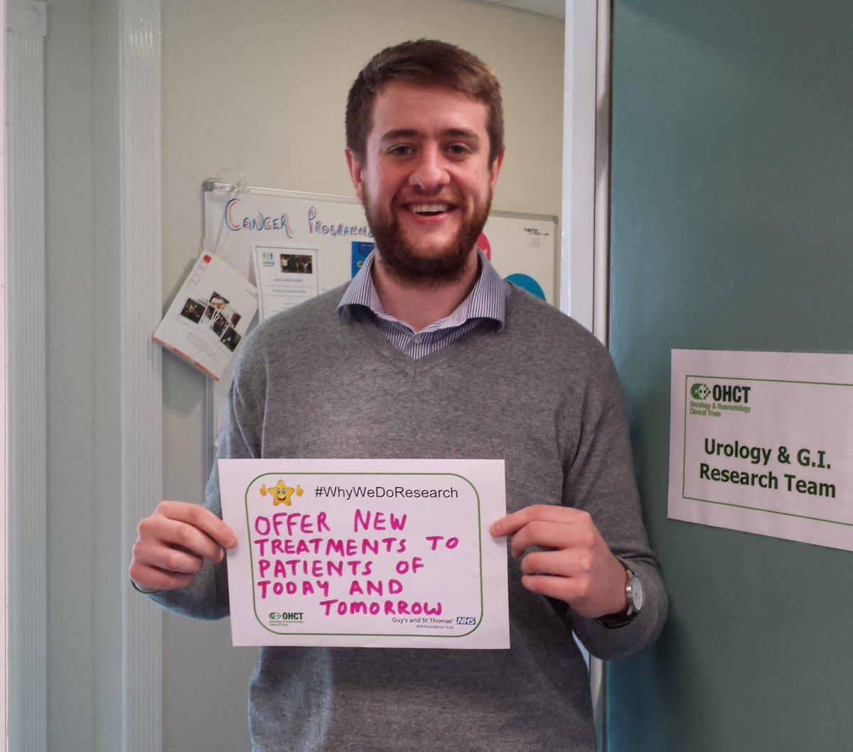 One of our urology clinical trials practitioners on #WhyWeDoResearch at @GSTTnhs http://t.co/Ln968jB03z