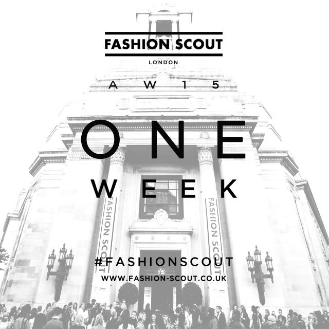 It's official - ONE WEEK to go! Are you all as excited as we are?! #FashionScoutAW15 http://t.co/Cq2BFiNuUA