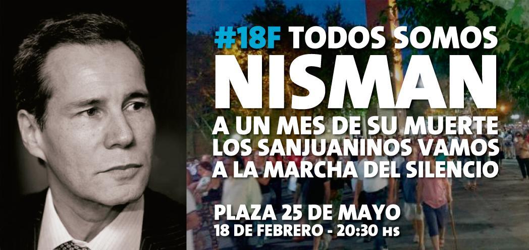 #Sanjuaninos #SanJuan este #18F todos a la plaza 25, a honrar en silencio la memoria de #Nisman ,VERDAD Y JUSTICIA. http://t.co/uk2EJRXlu8