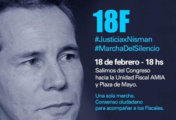 #18F YO VOY En silencio x la verdad, x la justicia. Por la memoria del fiscal Nisman. Por la vida y por la libertad http://t.co/GYjn0YkuAM
