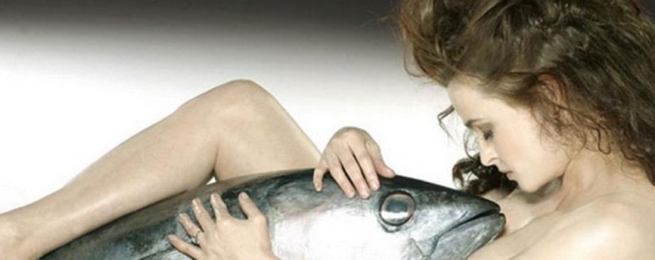 Helena Bonham Carter Poses Nude With A Fish In Strange Photoshoot Scoopnest Com