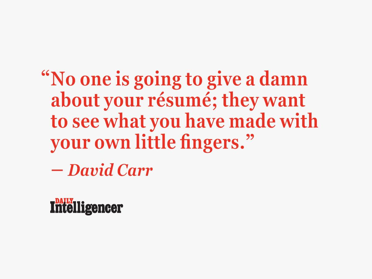 The collected wit and wisdom of David Carr: http://t.co/K7FaEUsdtf http://t.co/2TSozhf3fO