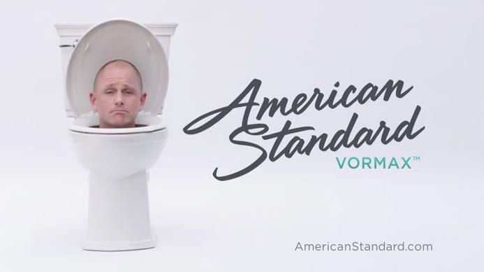 N American Standard Vormax Toilet Nobody Likes A Clinger Woman On Joggers Back Its Clean Itsclean Am Americanstandard Splatter