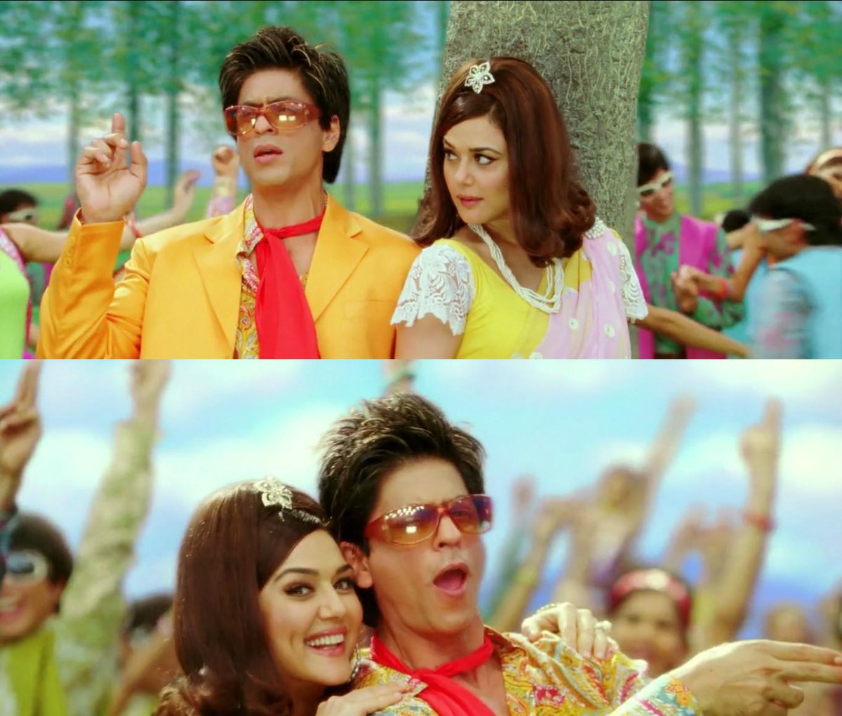 "srkuniverse malaysia on twitter: ""srk-preity zinta in the song phir"