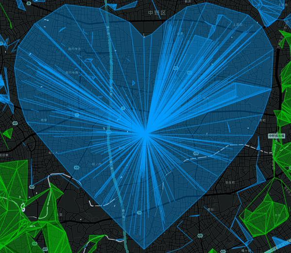 夜明けの空にふさわしいBlueHeart!ハッピーバレンタイン! #ingress http://t.co/8CymvD6n1g