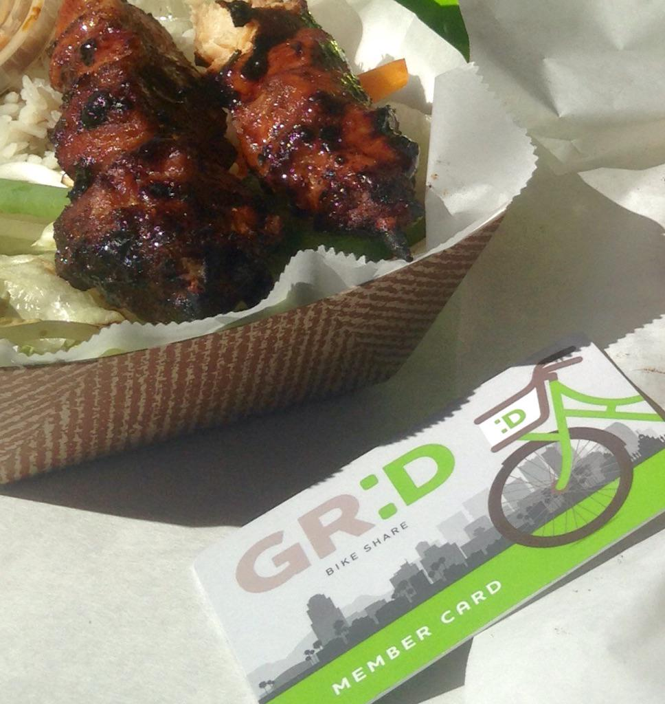 Today we rode the Grid to @PHXPublicMarket. Food Truck Friday was calling our name! #thegridlife