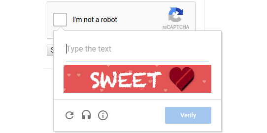 reCAPTCHA is spreading Valentine's Day love with extra sweet CAPTCHAs today! http://t.co/c556FPhAVO