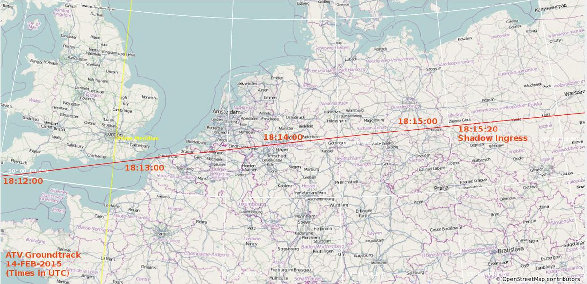 See ISS and cargo ship #ATV5 fly over Europe after undocking, around 19:00CET this evening http://t.co/c9b2vJQRtz via @esaoperations