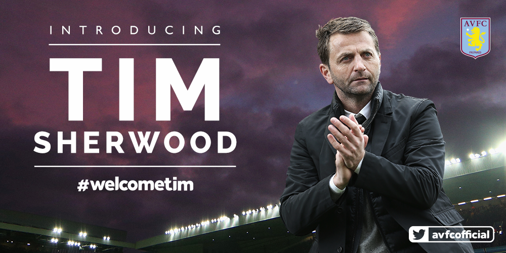 NEW MANAGER: A very warm claret and blue welcome to Tim Sherwood. Story: http://t.co/3XTUTJi04d #AVFC #WelcomeTim http://t.co/HcVwgmAKzj