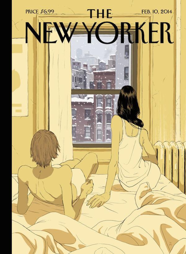 """""""@ilpost: 15 bellissime copertine del New Yorker dedicate agli innamorati http://t.co/O1NuKrfuVE http://t.co/WuU8TE9fdN"""""""
