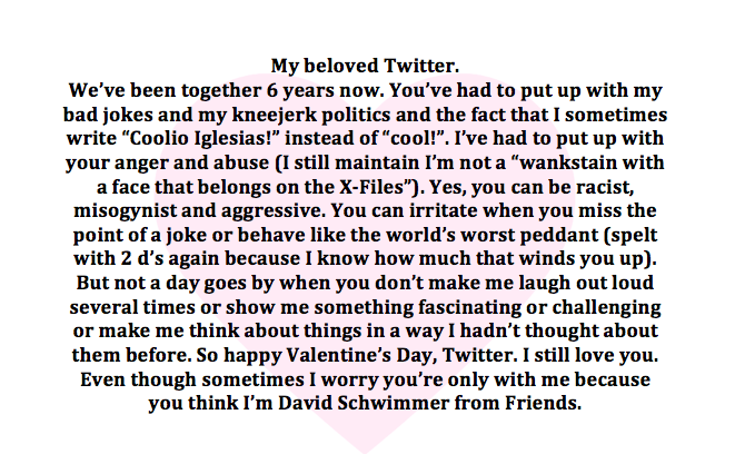 Happy Valentine's Day, Twitter. I made you a card x http://t.co/hI3PvTTKqh