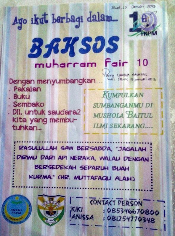 Restu Firmansyah On Twitter Brosur Baksos Muharram Fair 10