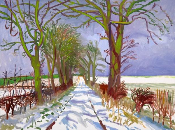 We're hoping to wake up to a snowy London! Here's David Hockney's 'Winter Tunnel with Snow, March' #UKSnow http://pic.twitter.com/5DonaCKO
