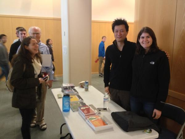 Just caught @phdcomics signing copies of his books before #openaccess meeting http://pic.twitter.com/xfIYxJ4S